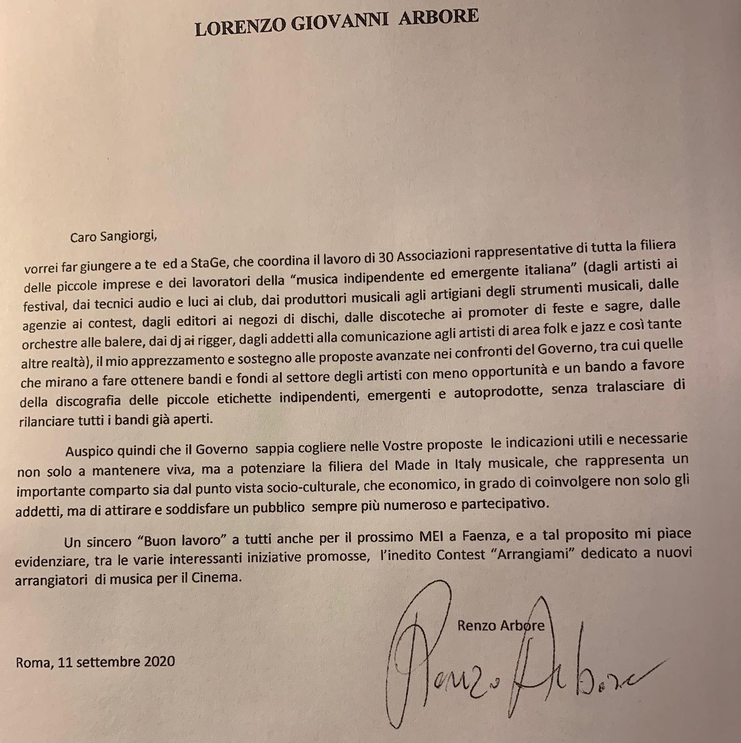 MEI, Renzo Arbore invia una lettera di sostegno al Coordinamento di StaGe! e al Mei25