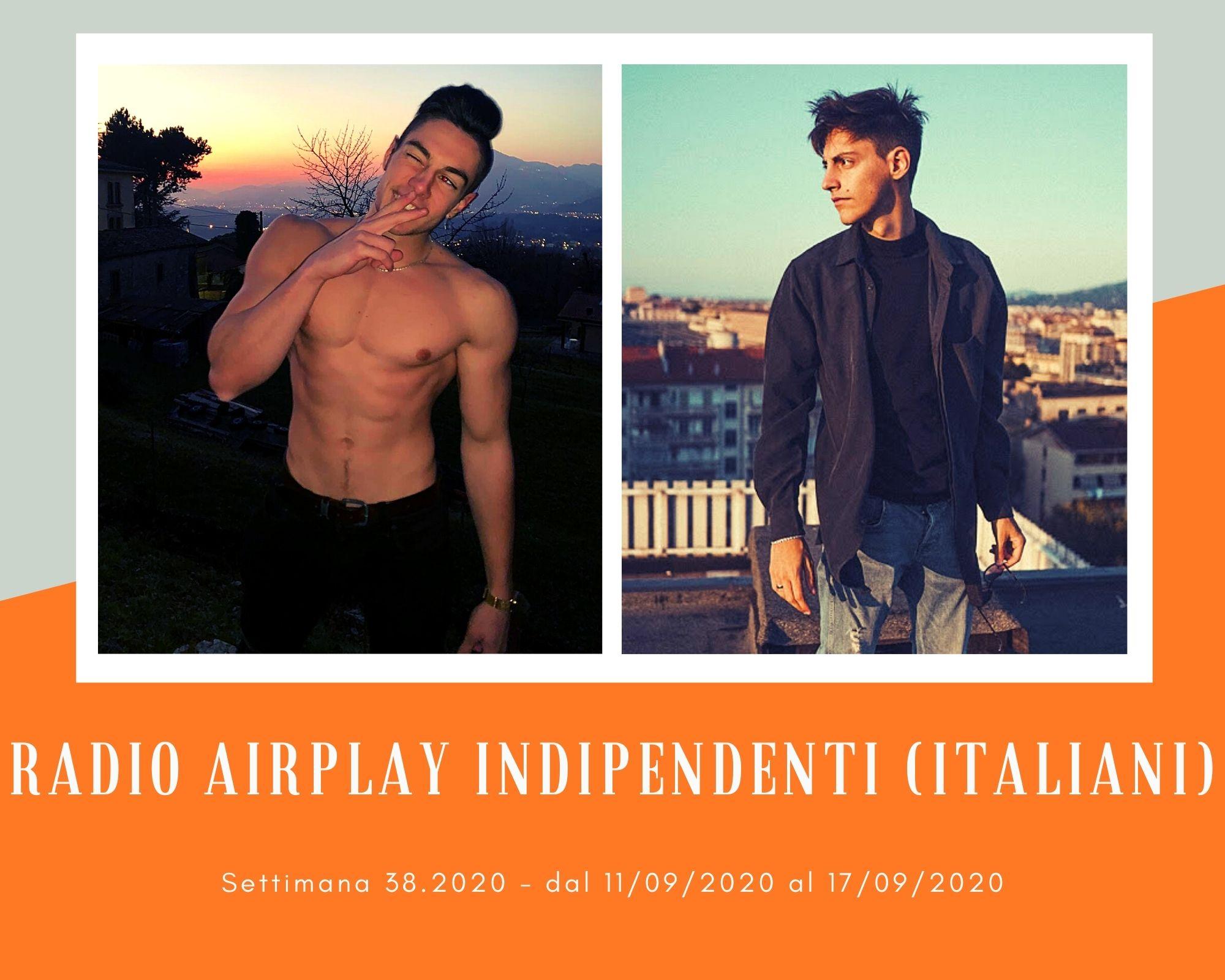 Classifica Radio Airplay Indipendenti Italiani, week 38: Emanuele Aloia e Recidivo, rivelazioni in ascesa. Più su anche i Modà