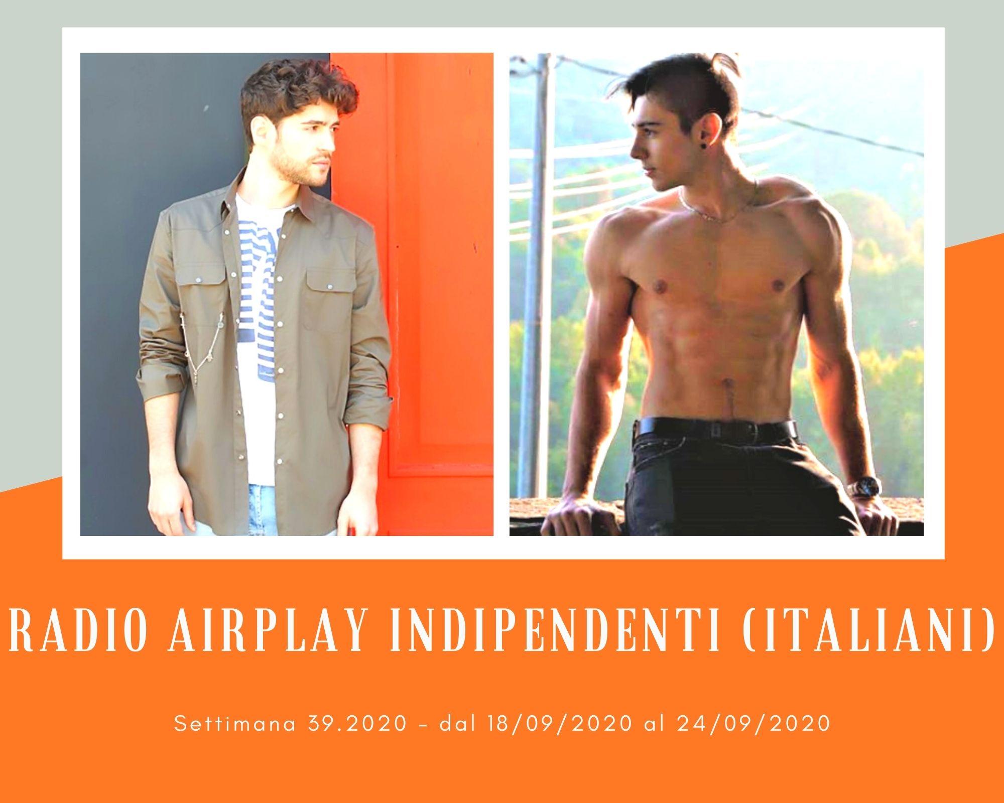 Classifica Radio Airplay Indipendenti Italiani, week 39: Recidivo più su, Diodato scende, Nearco e Matteo Faustini entrano