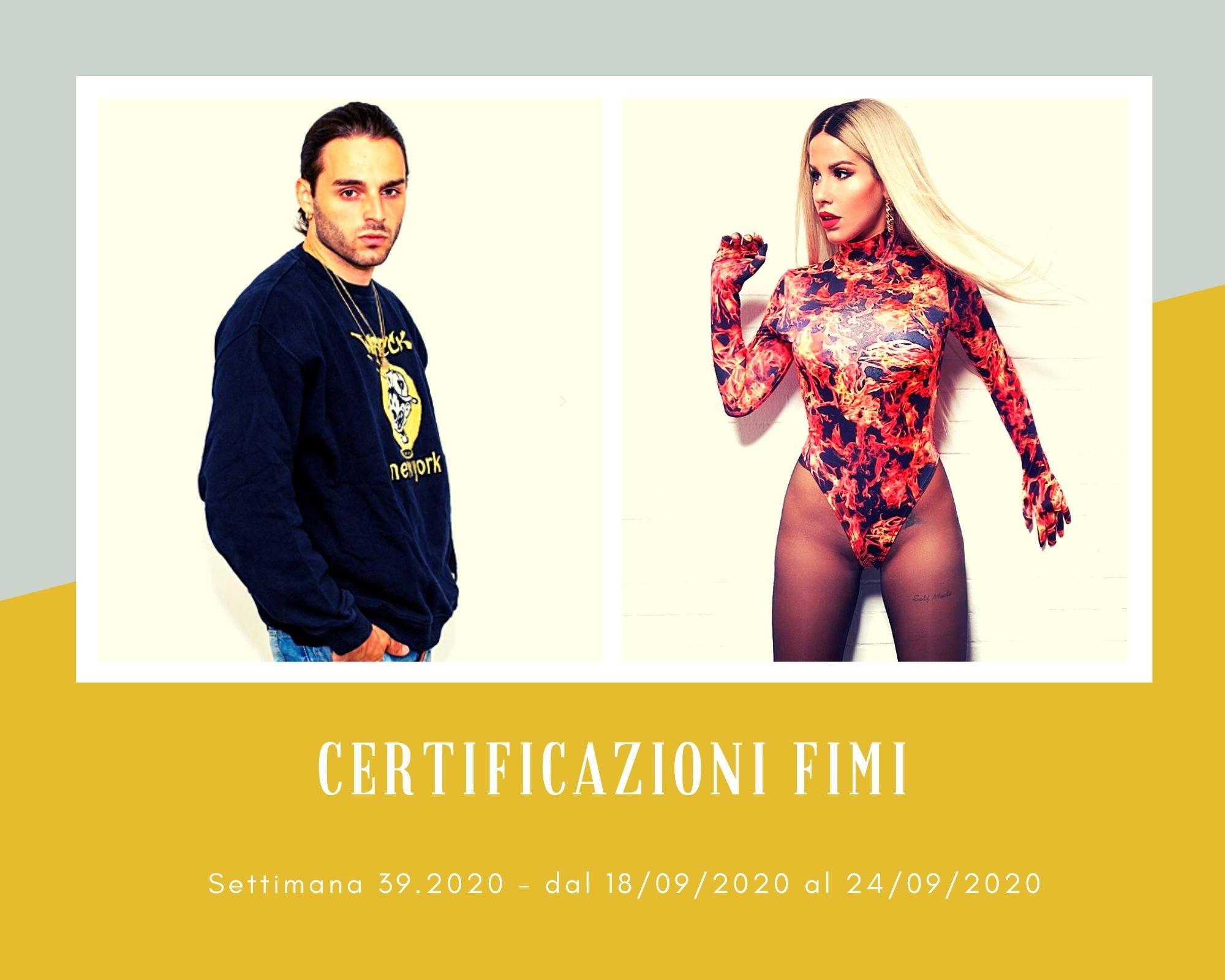 Certificazioni FIMI, week 39: Ernia e Baby K due superclassici dell'estate. Ultimo batte Mahmood