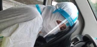 Infermiera si addormenta in ambulanza, Palermo