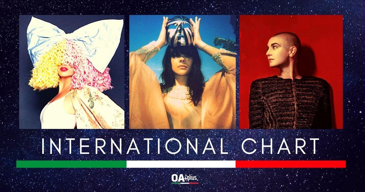OA PLUS INTERNATIONAL CHART (Week 35/2020): Una top 3 di novità al femminile con Sia, Sinead O'Connor e Bat for Lashes