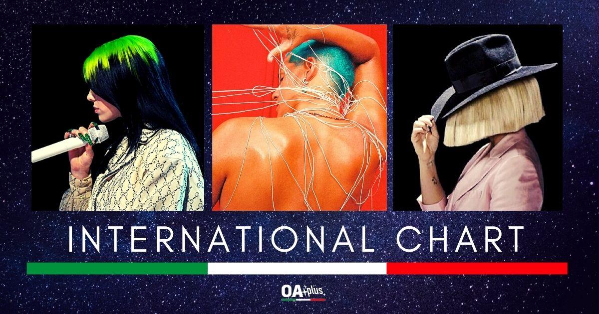 OA PLUS INTERNATIONAL CHART (WEEK 37/2020): Irrompono Omar Apollo e Jamie Cullum, ma Billie Eilish e Sia resistono sul podio