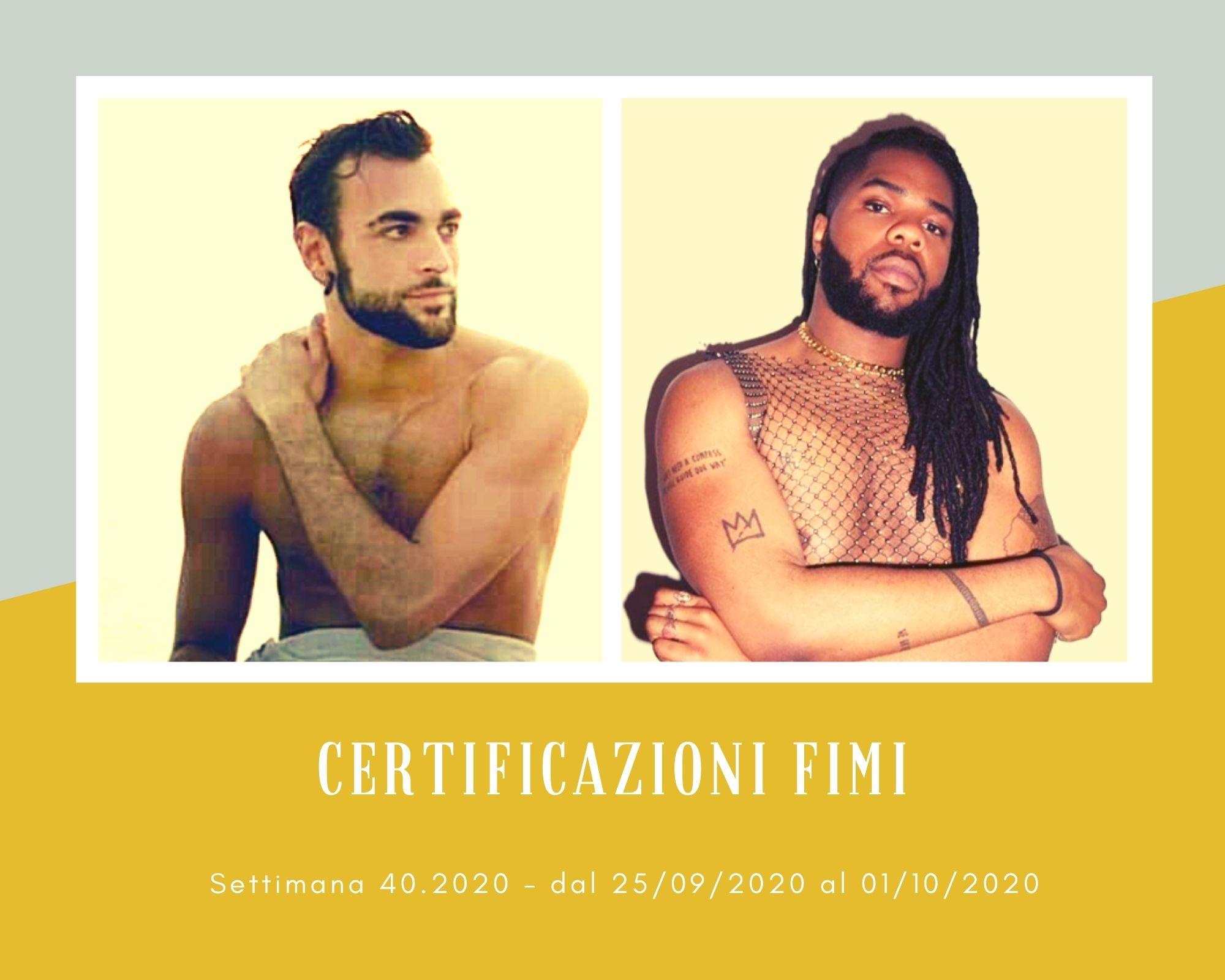 Certificazioni FIMI, week 40: Mahmood regala un platino a Marco Mengoni. Successo di vendite anche per Mnek e Achille Lauro