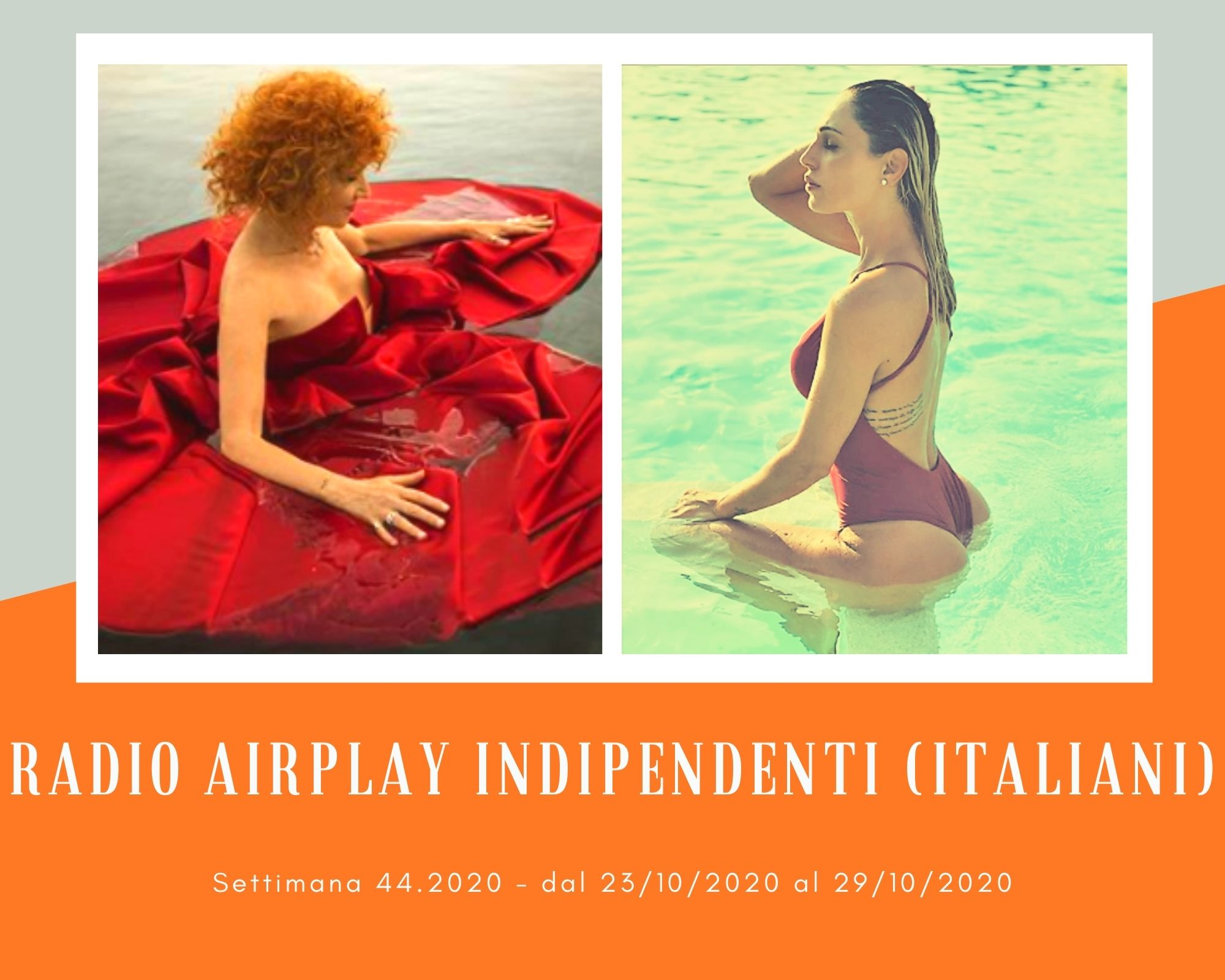 Classifica RADIO AIRPLAY Indipendenti Italiani, week 44. Irene Grandi supera Anna Tatangelo, Bungaro soccorre Fiorella Mannoia