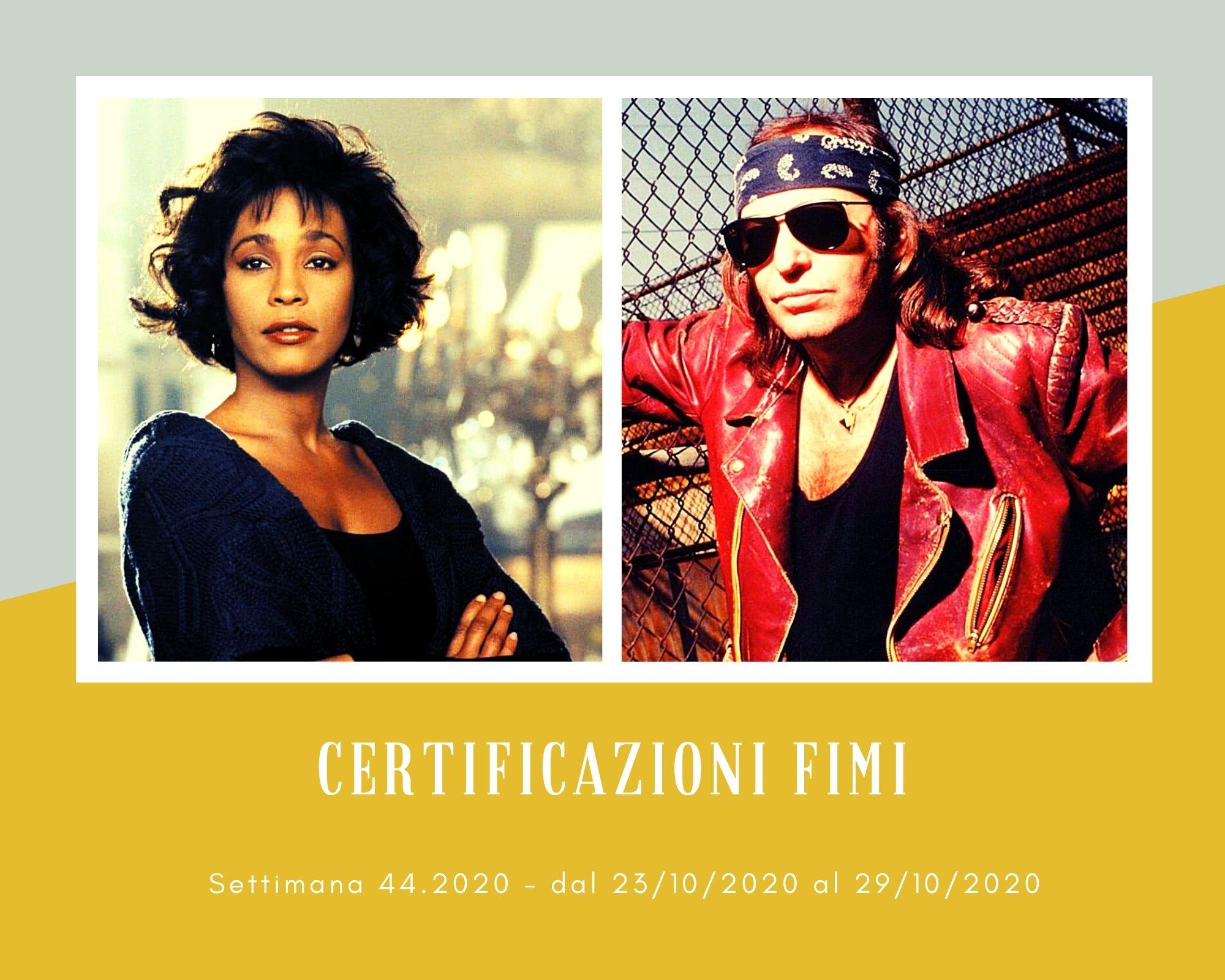 Certificazioni FIMI, week 44. La musica vintage di Whitney Houston e Vasco Rossi resiste alle mode