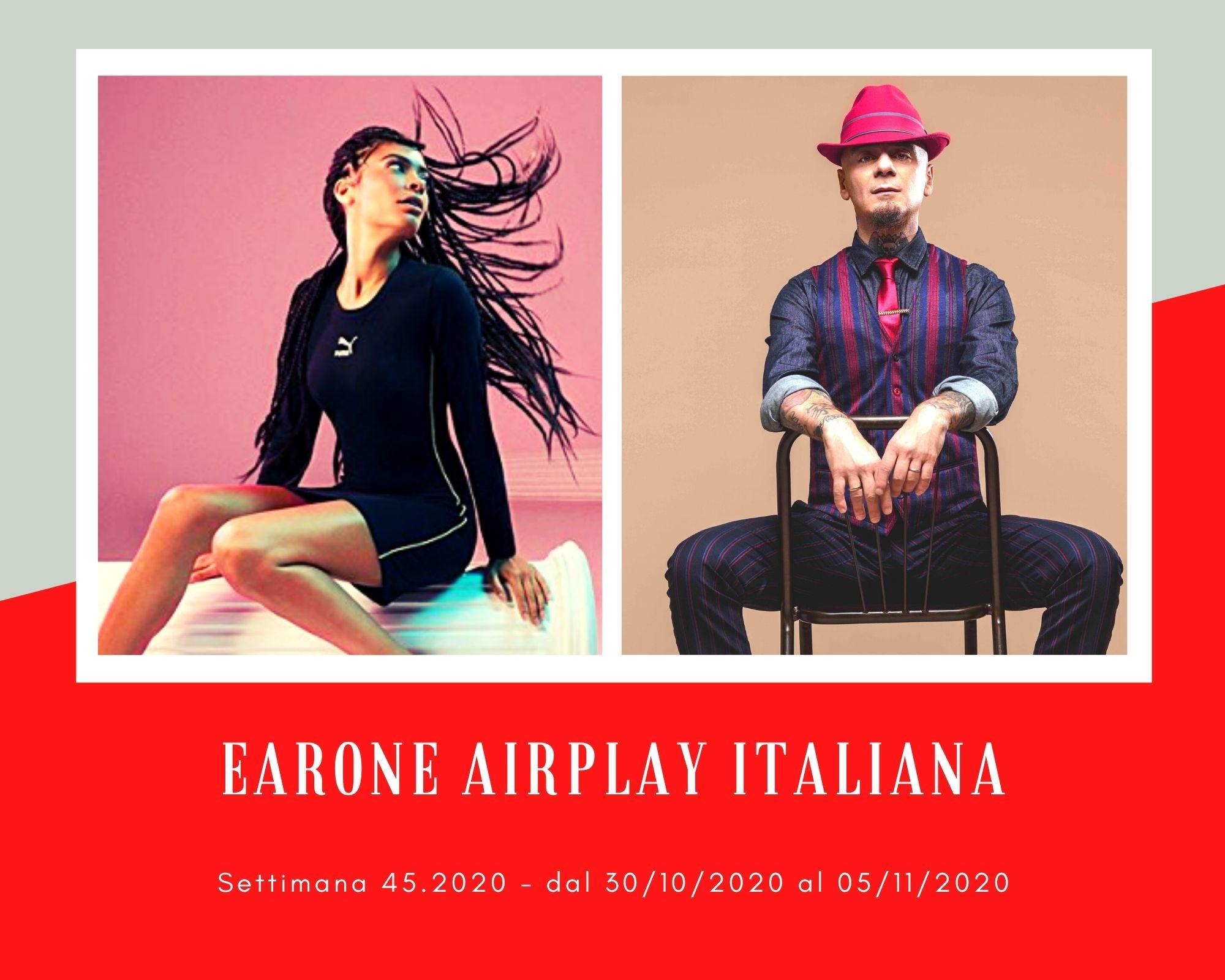 """Classifica Radio EARONE Airplay Italiana, week 45. J-Ax e Elodie sorpassano in coppia, Tiziano Ferro """"giorgieggia"""""""