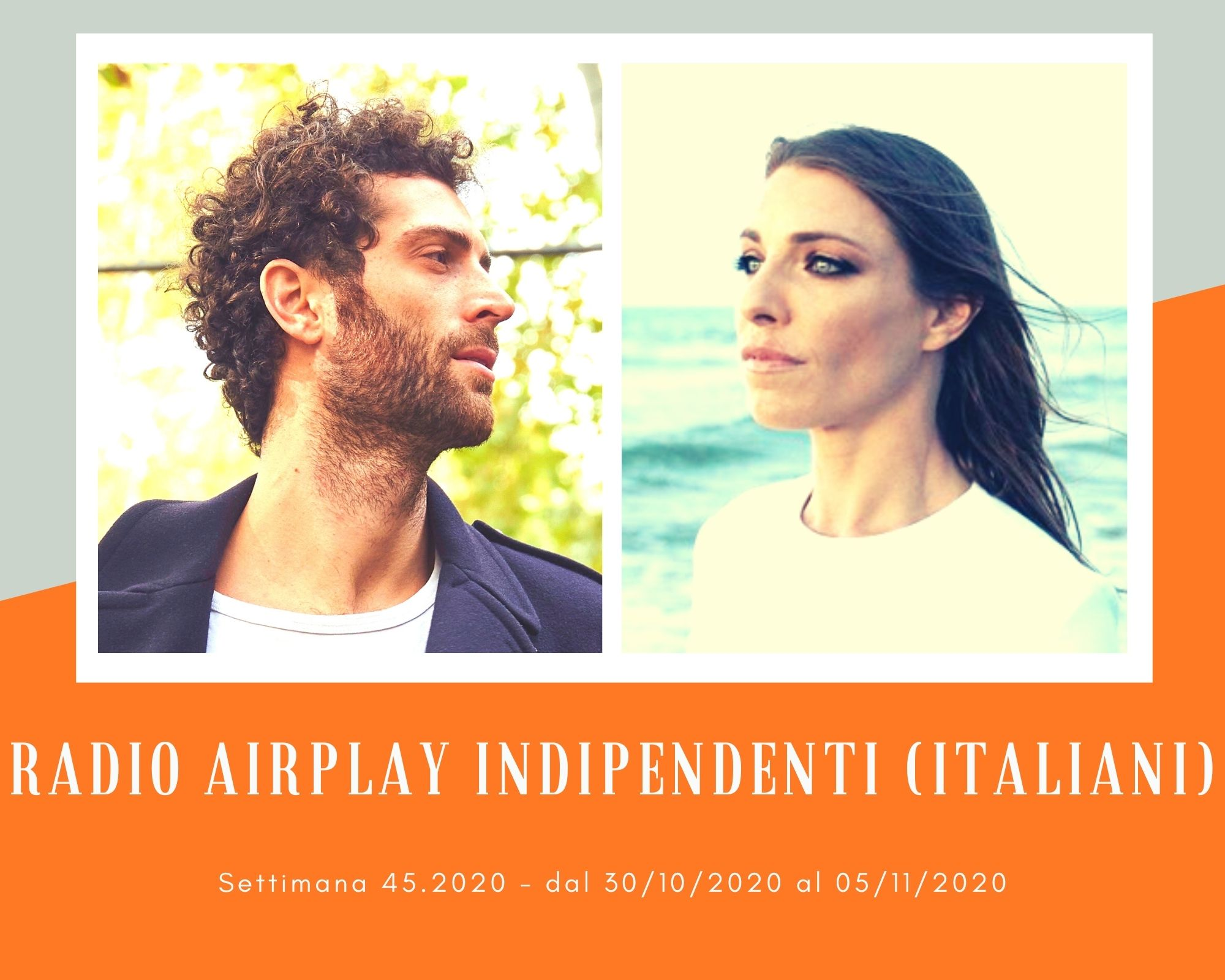 Classifica RADIO AIRPLAY Indipendenti Italiani, week 45. Loredana Errore e Marco Guazzone piacciono