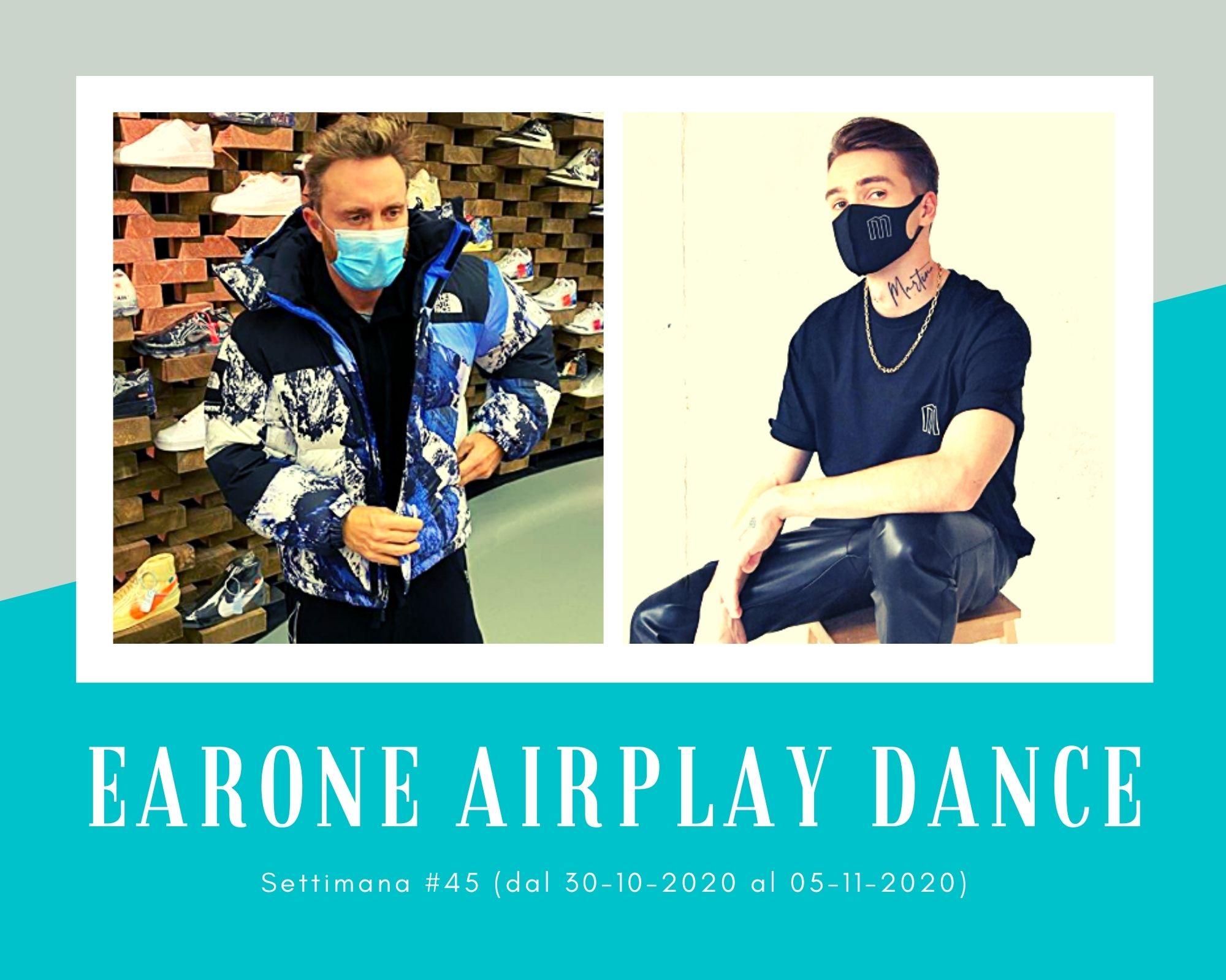 Classifica Radio EARONE Airplay Dance, week 45. David Guetta vince agli MTV EMA 2020 e vola in vetta. Boom anche per Mikolas Josef e i Meduza
