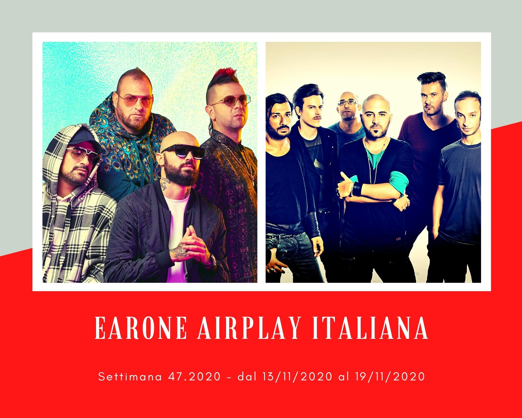 Classifica Radio EARONE Airplay Italiana, week 47. I Boomdabash puntano la vetta occupata dai Negramaro