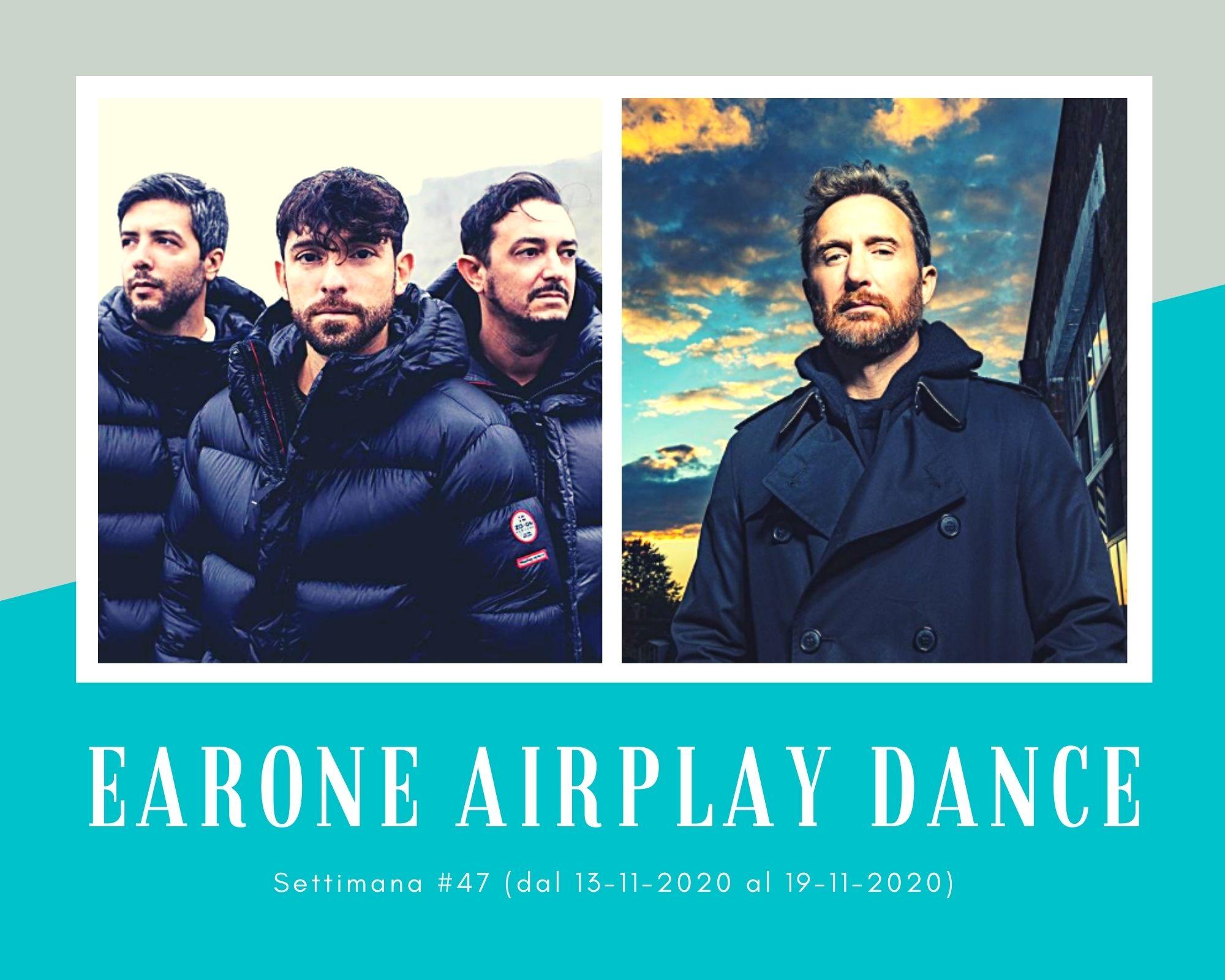 Classifica Radio EARONE Airplay Dance, week 47. I Meduza e i Super-Hi alla riscossa, David Guetta primo