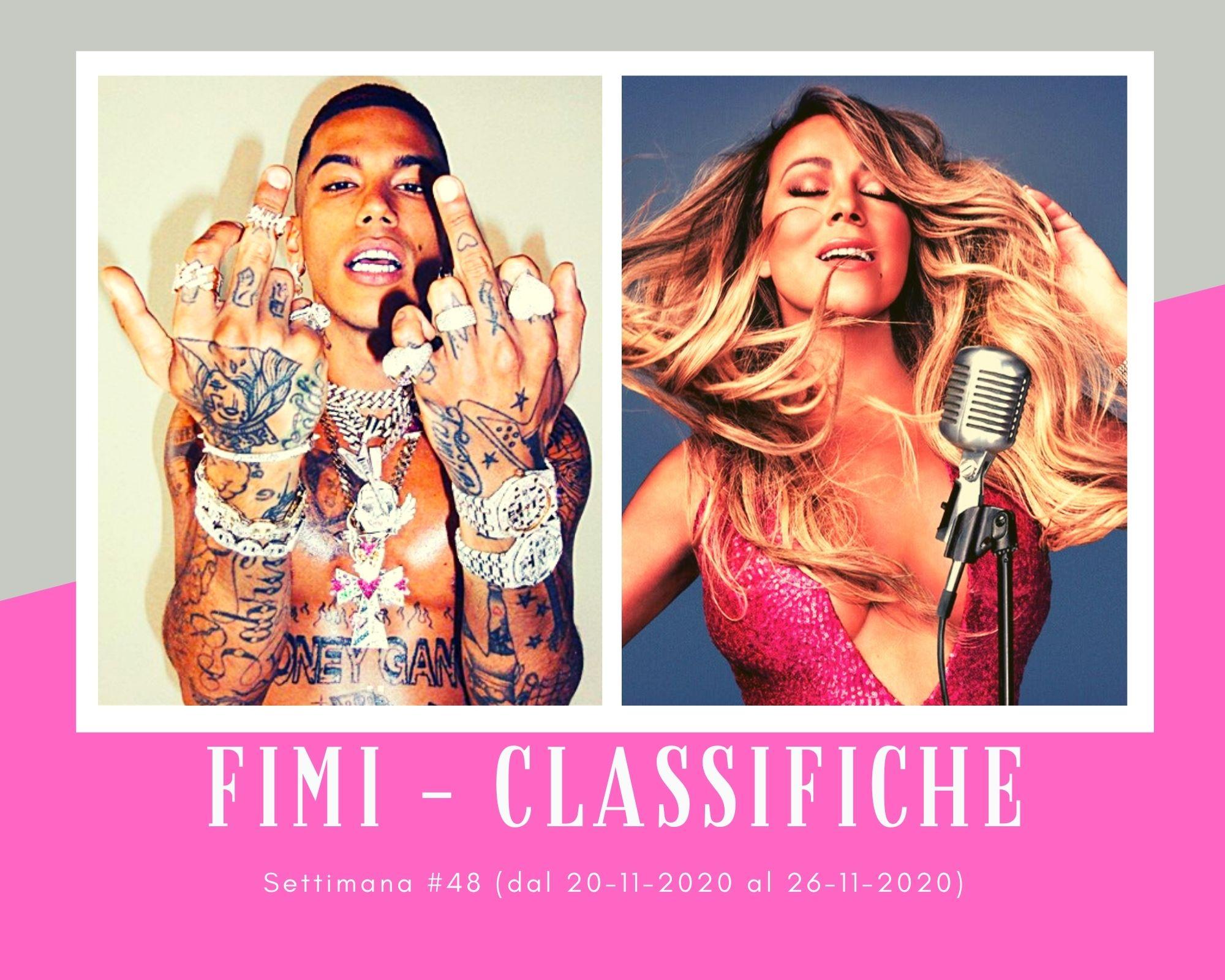 Classifiche FIMI, week 48. Sfera Ebbasta spazza via tutti. Mariah Carey e Taylor Swift primedonne