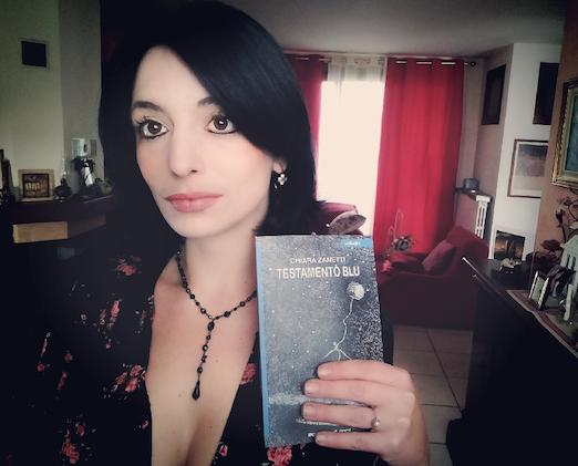 """""""Testamento blu"""" è il nuovo libro di Chiara Zanetti"""