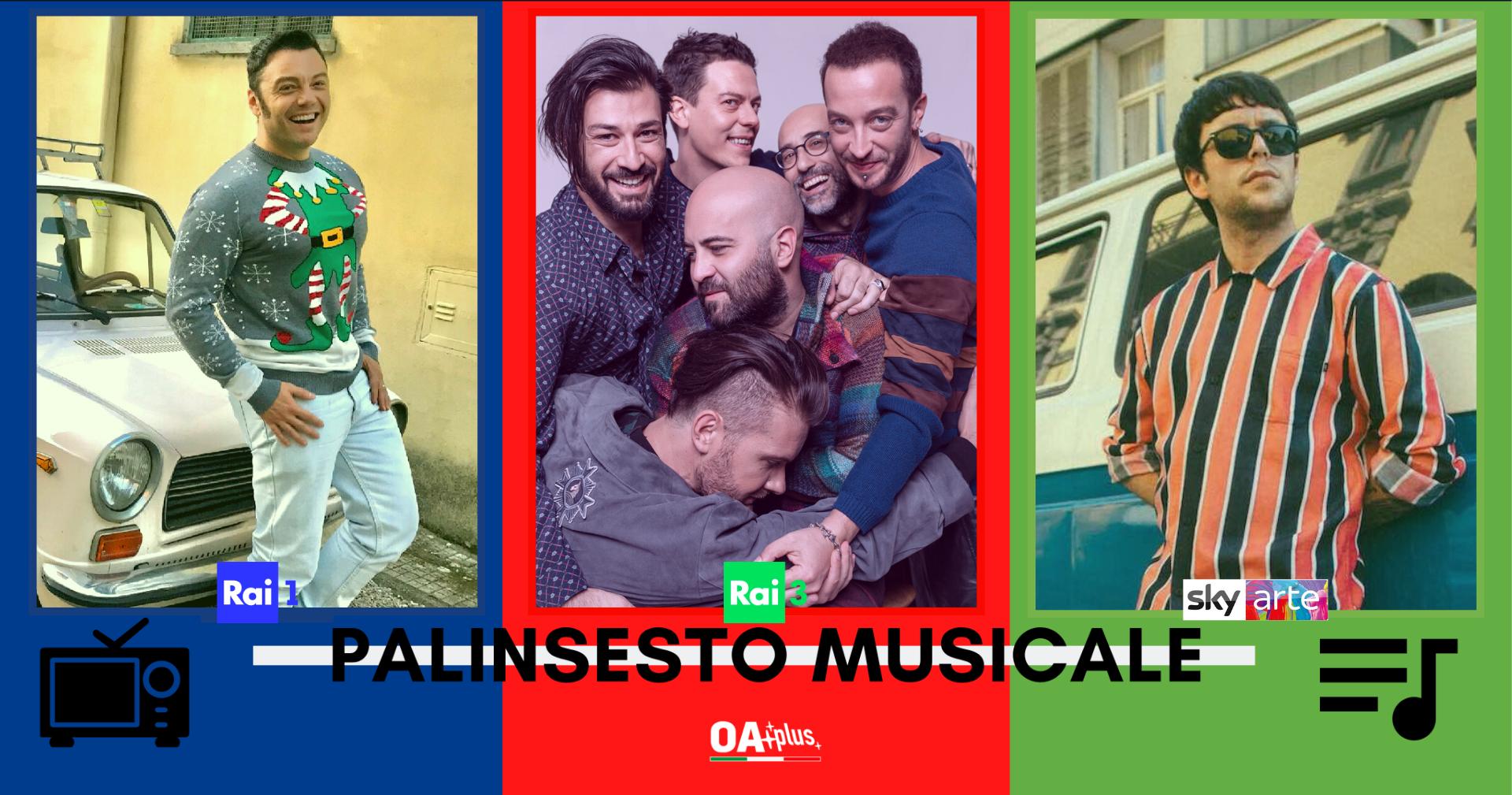 Rubrica, PALINSESTO MUSICALE: Tiziano Ferro, Negramaro, Gazzelle