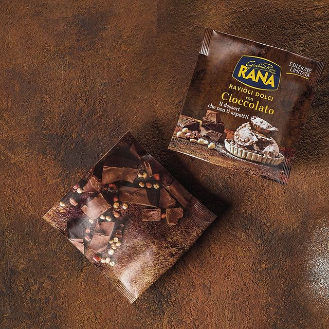 Rana, ravioli al cioccolato, fritti o in padella, per i palati curiosi e golosi