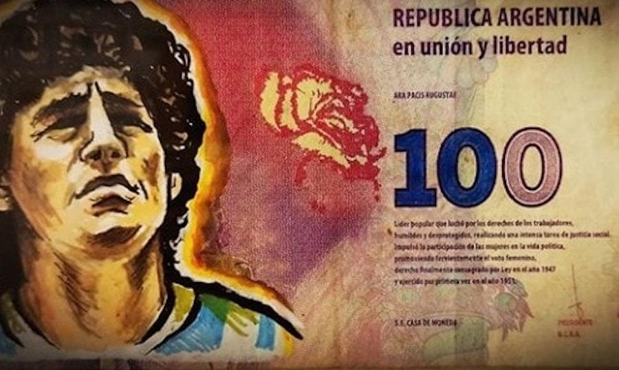 Maradona, proposta in Argentina: il suo volto sulle banconote da 1000 pesos