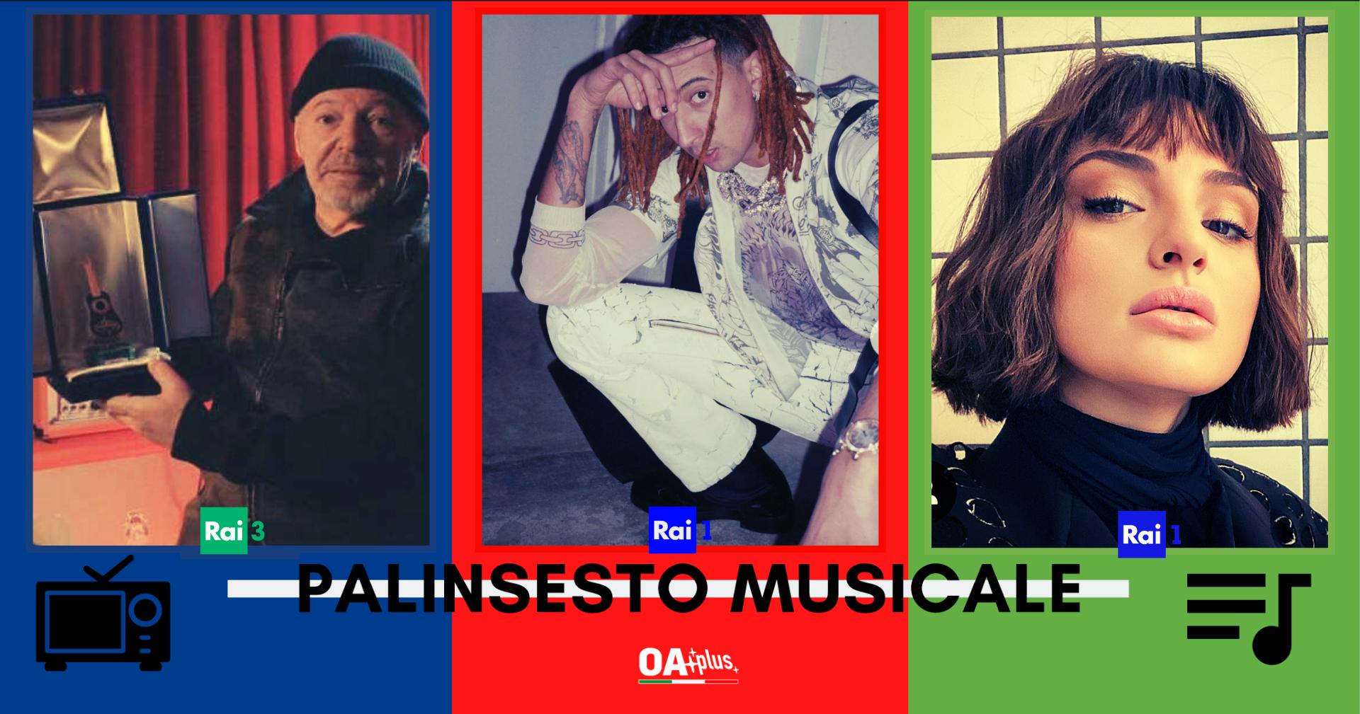 Rubrica, PALINSESTO MUSICALE: Vasco Rossi, Ghali, Arisa