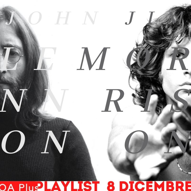 John Lennon & Jim Morrison. Una playlist condivisa per due leader rock