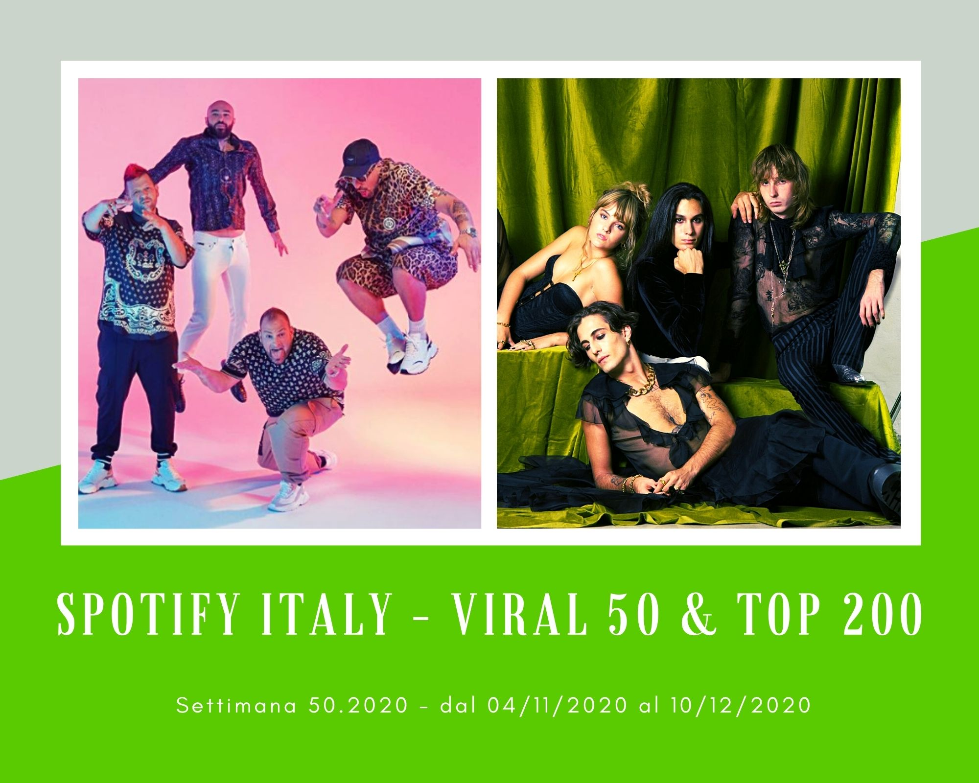 Classifiche SPOTIFY, week 50. I Maneskin e i Boomdabash tra le band preferite dai giovani