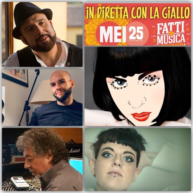 """Mei, Rubrica. MUSICA IN GIALLO. Questa settimana a """"In diretta con la Giallo"""" ospiti Cris La Torre, Marco Gray, Roberto Costa e Margherita Zanin"""