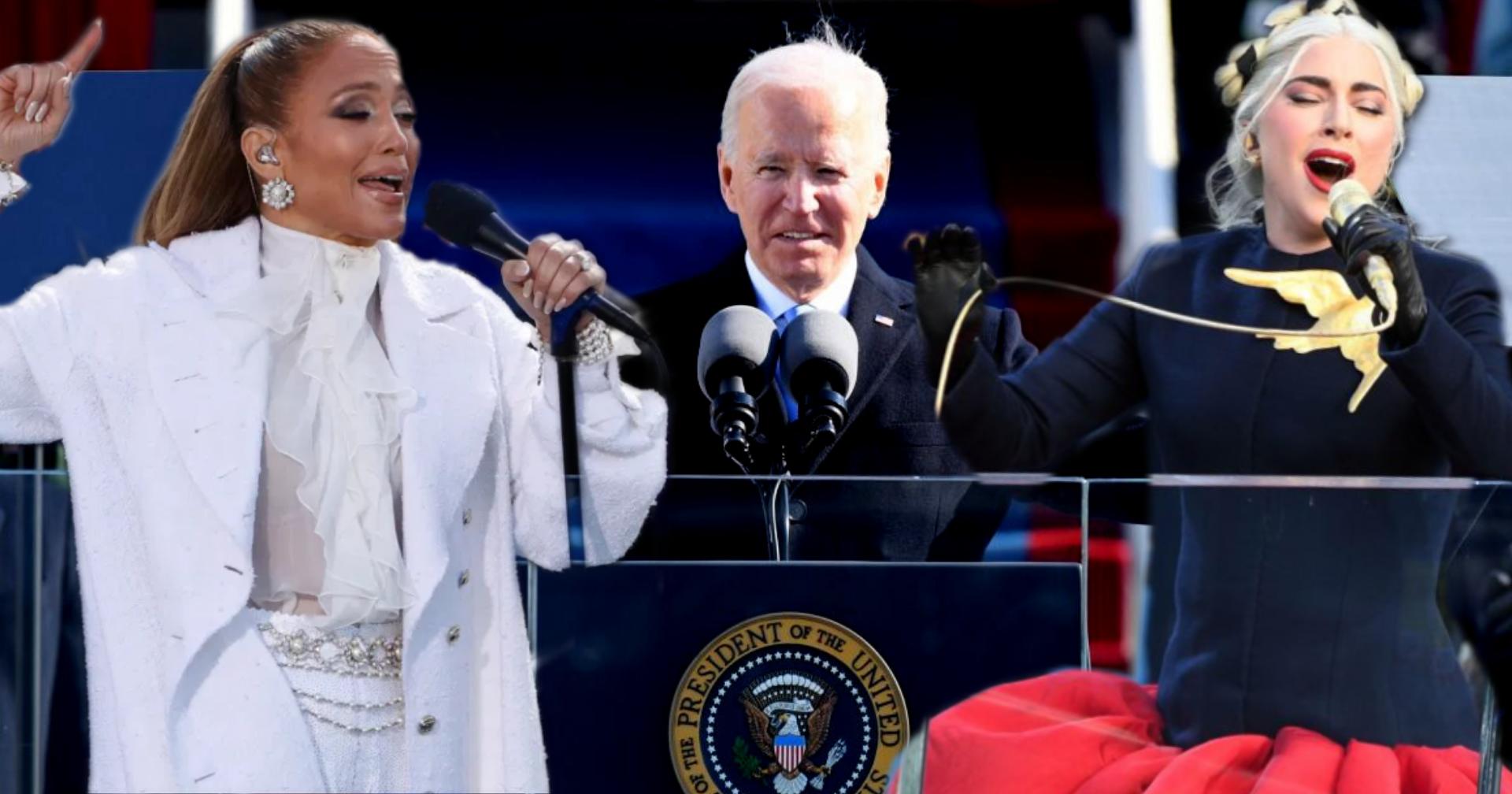 Lady Gaga e Jennifer Lopez cantano per Joe Biden. La rinascita inizia adesso