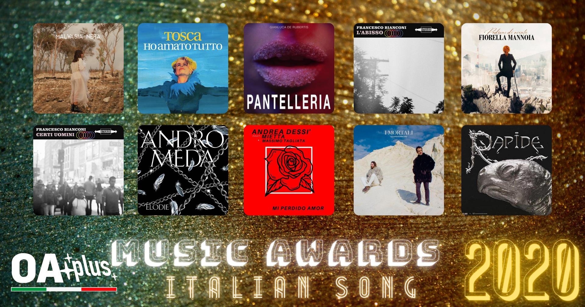 """OA PLUS MUSIC AWARDS 2020. Quali sono le """"Migliori Canzoni Italiane"""" dell'anno? Vince Diego Rivera – ECCO LA TOP 10"""