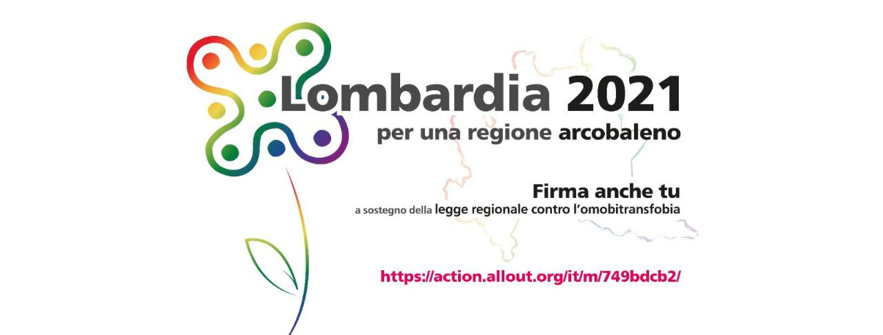 Lombardia, online la raccolta firme per la legge regionale contro l'omolesbobitransfobia