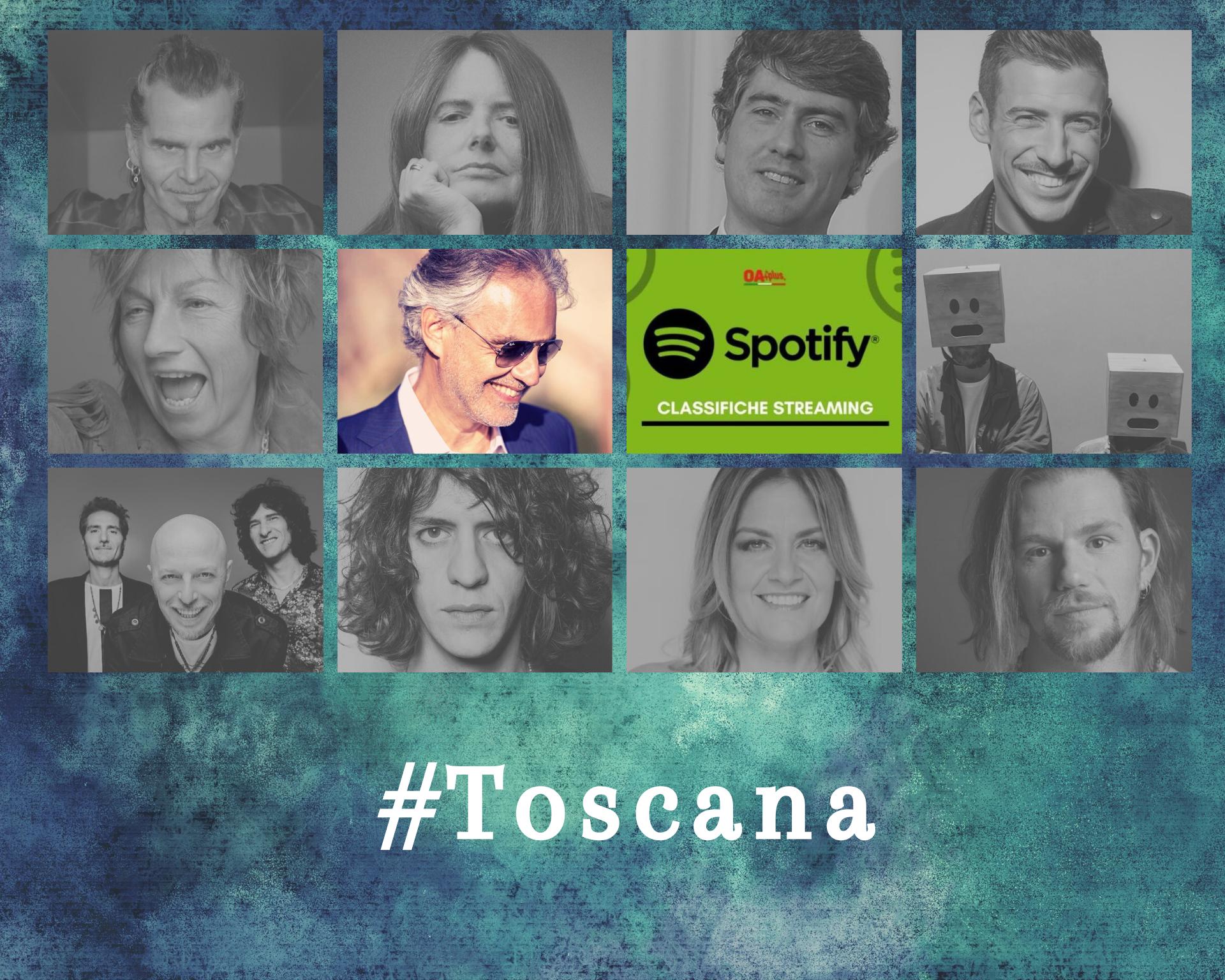Cantanti della Toscana più ascoltati su Spotify: Bocelli batte Nannini. Sul podio anche Dario Marianelli