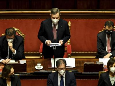 """L'esordio di Draghi al Senato: """"Il governo farà le riforme ma affronterà anche l'emergenza: siamo consci dell'insegnamento di Cavour"""""""