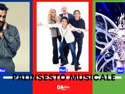 Rubrica, PALINSESTO MUSICALE: Marco Mengoni, Ricchi e Poveri, Il Cantante Mascherato