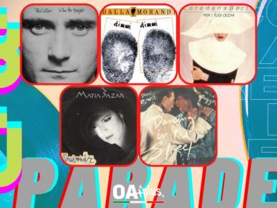 Rubrica, 80PARADE. Phil Collins, Loredana Bertè, Lucio Dalla & Gianni Morandi, Matia Bazar, David Bowie& Mick Jagger