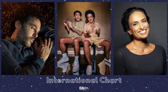 OA PLUS INTERNATIONAL CHART (WEEK 10/2021): irrompe Bruno Mars che supera Piers Faccini e Noa