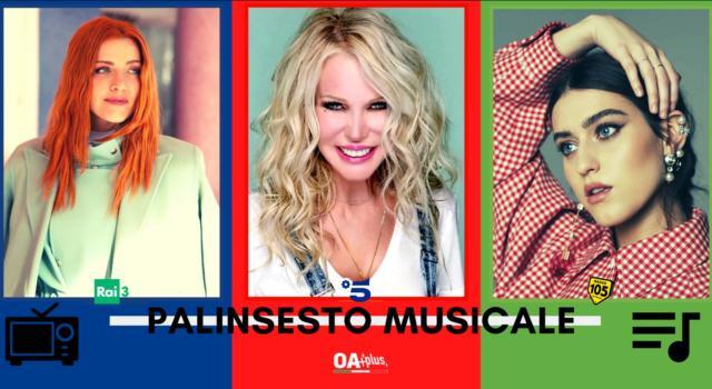Rubrica, PALINSESTO MUSICALE: Noemi, Ivana Spagna, Gaia