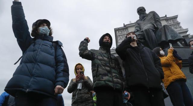 Proteste in tutta la Russia in favore di Alexei Navalny