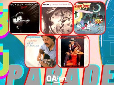 Rubrica, 80PARADE. Fiorella Mannoia, Cher, Rolling Stones, Toquinho, Adriano Celentano