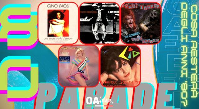 Rubrica, 80PARADE. Gino Paoli, U2 & B.B.King, Cyndi Lauper, Lorella Cuccarini, Lio