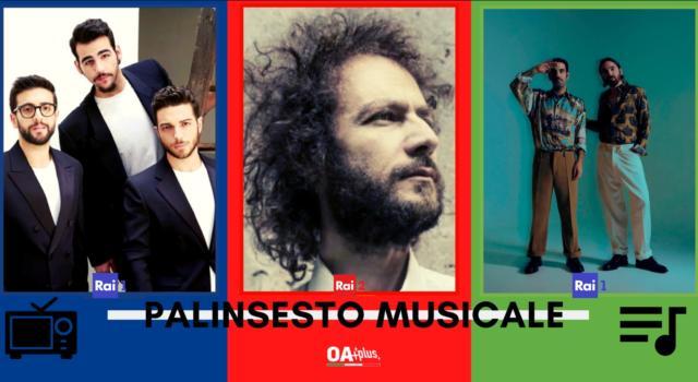 Rubrica, PALINSESTO MUSICALE: Il Volo, Tricarico, Colapesce Dimartino