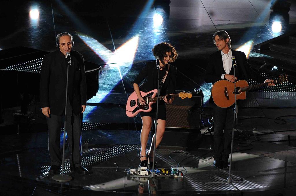 Luca Madonia con Franco Battiato e Carmen Consoli