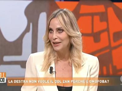 Ddl Zan, Stefania Orlando contro Giuseppe Cruciani e la Lega nel programma 'Dritto e Rovescio' – VIDEO