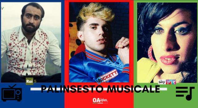 Rubrica, PALINSESTO MUSICALE: Lucio Dalla, Aka7even, Amy Winehouse