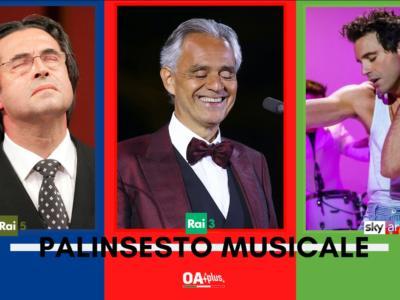 Rubrica, PALINSESTO MUSICALE: Riccardo Muti, Andrea Bocelli, Mika