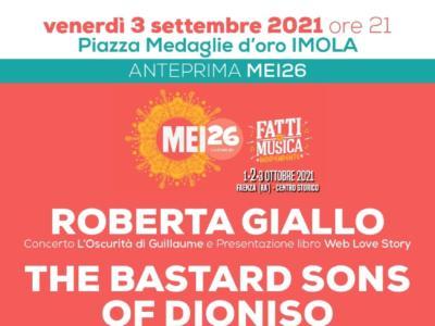 """Mei, al via l'anteprima della kermesse a """"Imola in Musica"""" il 3 settembre con The Bastard Sons of Dioniso e Roberta Giallo"""