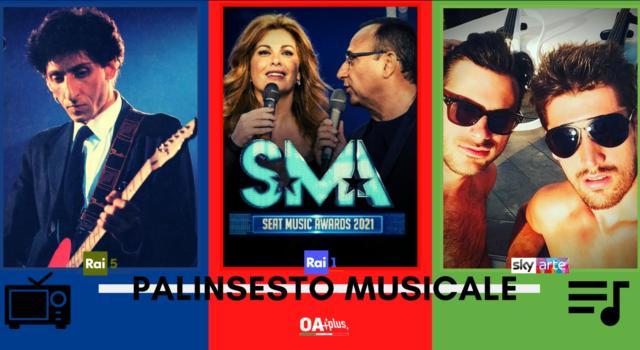 Rubrica, PALINSESTO MUSICALE: Franco Battiato, Seat Music Awards, 2 Cellos
