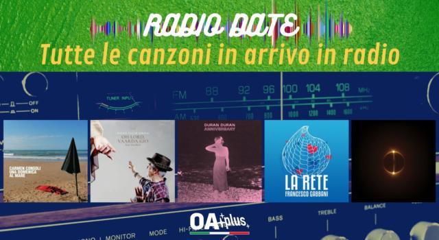 RADIO DATE del 3 settembre. Carmen Consoli, Davide Van De Sfroos & Zucchero, Duran Duran, Francesco Gabbani, Abba