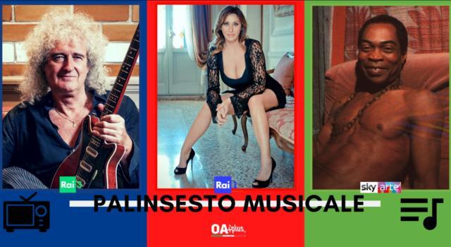 Rubrica, PALINSESTO MUSICALE: Brian May, Sabrina Salerno, Fela Kuti