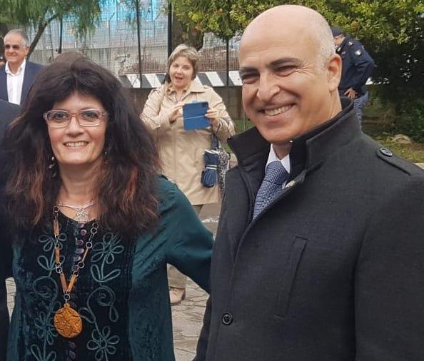 Stella Bassani con ambasciatore israeliano